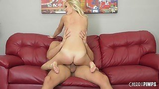 Sweet blonde teen gives her fucker