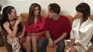 MILF mature masseuse jerks off her
