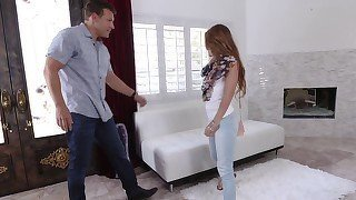 Dirty-minded young babe gets gagged